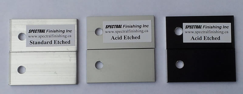 Acid Etch Spectral Finishing